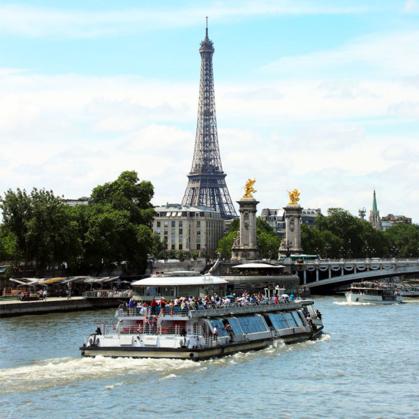 Paris scenic Seine river Cruise