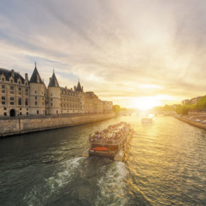 Illuminated Paris Seine River evening cruise